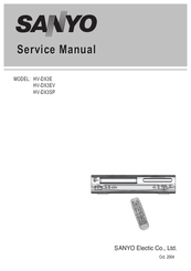 Sanyo HV-DX3E Service Manual