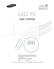 Samsung LED 8000 series User Manual