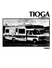 Fleetwood TIOGA 1982 Manuals