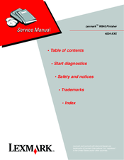 lexmark w850 manual
