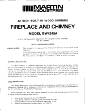 martin industries bw4245a manuals rh manualslib com Martin Industries Fireplace Log Manual Martin Gas Fireplace Manual