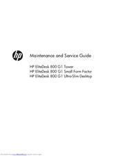 HP ELITEDESK 800 G1 TOWER SERVICE MANUAL Pdf Download