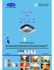 Carrier Split Unit Air Conditioner Installation Manual