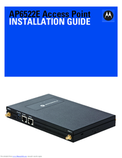 Motorola AP6522E Installation Manual