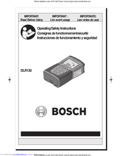 Bosch DLR130 Operating/Safety Instructions Manual