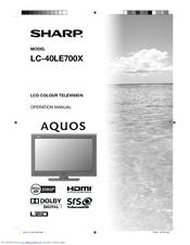 sharp aquos lc 40le700x manuals rh manualslib com Microwave Oven Sharp R 308J sharp lc40le830u manual español