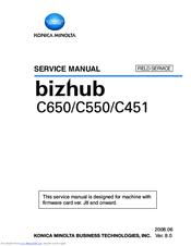 konica minolta bizhub c550 series manuals rh manualslib com bizhub c550 service manual pdf bizhub c550 service manual pdf