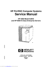 HP 3000 9X9/KS Service Manual