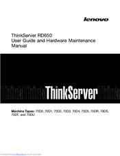 Lenovo ThinkServer RD650 70D5 User Manual