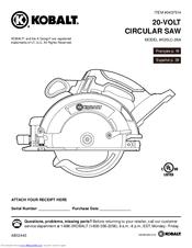 Kobalt K20LC-26A Manuals