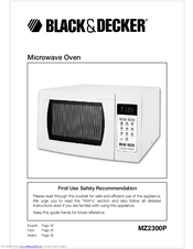 Black & Decker MZ2300P User Manual
