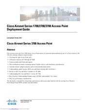 Cisco Aironet 1700 Series Manuals