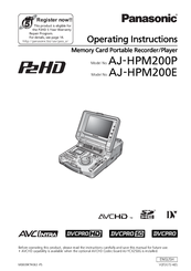 Panasonic AJ-HPM200P Operation Instruction Manual