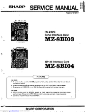 Sharp MZ-8BI04 Service Manual