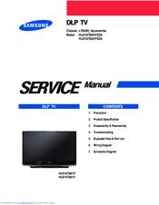 samsung hl67a750a1fxza service manual pdf download rh manualslib com samsung dlp tv service manual pdf Samsung DLP TV Lamp