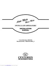 Centurion Maxi Mate Manuals