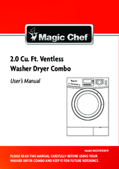 Magic Chef MCSCWD20W User Manual