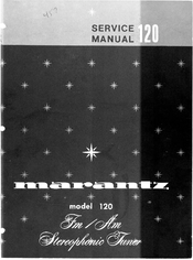 marantz 120 manuals rh manualslib com Marantz FM Tuner Marantz 250 3300
