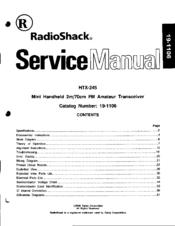 radio shack htx 245 manuals rh manualslib com radio shack dx-394 service manual radio shack service manuals