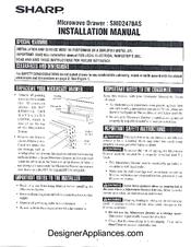 Sharp Smd2470as Manuals