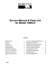 Norcold 1200lr Manuals