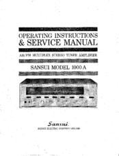 Sansui 1000A Manuals
