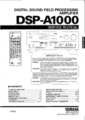 Yamaha DSP-A1000 Service Manual