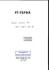 Yaesu FT-101EX Operating Manual