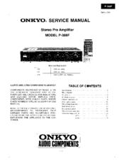 onkyo integra p 388f manuals rh manualslib com Stereo Preamp Onkyo Preamplifier