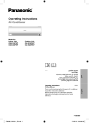 PANASONIC CS-K24PKF OPERATING INSTRUCTIONS MANUAL Pdf Download