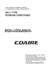Coaire Split Type Room Air Conditioner Installation Manual