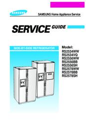 samsung rs2578bb manuals rh manualslib com Samsung Refrigerator Common Problems Order Parts for Samsung Refrigerator