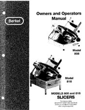 Berkel 818 Manuals