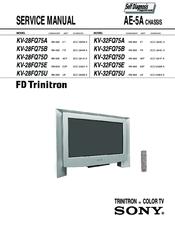 Sony Fd Triniton Kv 32fq75e Manuals Manualslib