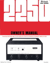 mcintosh mc 2250 manuals rh manualslib com