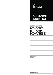 icom ic v85 t manuals rh manualslib com icom ic-v85 manual download manual radio icom ic-v85