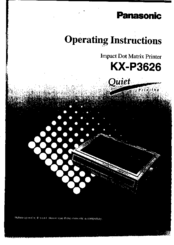 panasonic kx p3626 manuals rh manualslib com Panasonic Kx Instruction Manual Panasonic Owner's Manual
