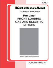 kitchenaid khev01rss pro line plus electric dryer manuals rh manualslib com kitchenaid dryer owners manual kitchenaid washer and dryer manual