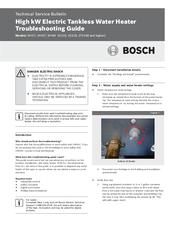 Bosch Wh27 Manuals