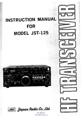 JRC JST-125 Instruction Manual