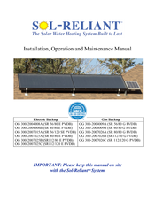 Sol-Reliant OG 300-2007025C Installation, Operation And Maintenance Manual