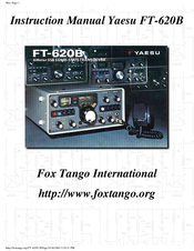 yaesu ft 620b manuals rh manualslib com Yaesu FT- 60R Transceiver Yaesu FT 757GX