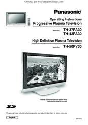 panasonic tv setup instructions