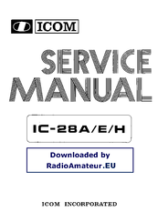 icom ic 28h manuals rh manualslib com Icom 2-Way Radio icom ic-28h manual en español