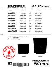 sony kv 32s42 kv 32s66 color tv repair manual