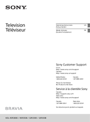 Sony Bravia KDL-32R300B Operating Instructions Manual