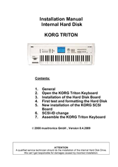 Korg Triton Studio Installation Manual
