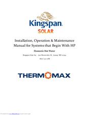 kingspan thermomax hp series manuals rh manualslib com Quick Installation Guide Honeywell Thermostat Installation Manual