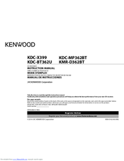 Kenwood Kdc Bt362u Manuals Manualslib