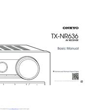 ONKYO TX-NR636 BASIC MANUAL Pdf Download